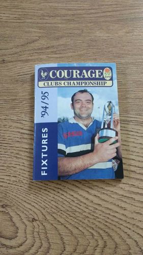 Courage RFU Clubs Championship Fixture Book 1994/95