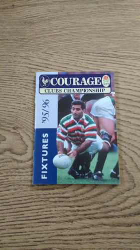 Courage Clubs Championship Fixture Book 1995/96