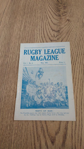 'Rugby League Magazine' Vol 1 No 2 : May 1963