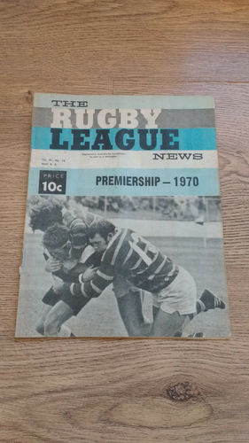 'The Rugby League News' Magazine (New South Wales) :  4 April 1970