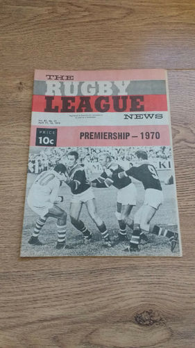 'The Rugby League News' Magazine (New South Wales) :  11 April 1970