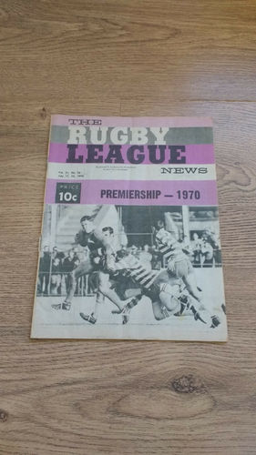 'The Rugby League News' Magazine (New South Wales) : 11 July 1970