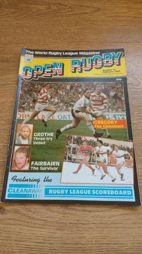 'Open Rugby' Magazine No 72 : February 1985