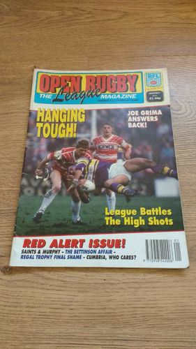 'Open Rugby' No 122 : February 1990 RL Magazine