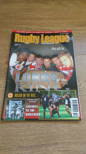 'Rugby League World' Magazine : October 2002