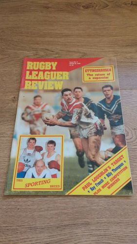 'Rugby League Review' Magazine : March 1989