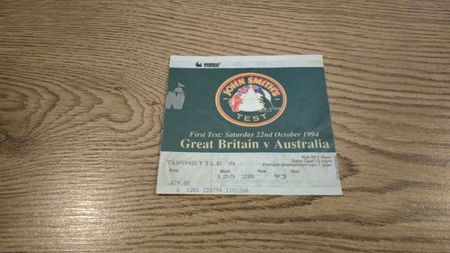 Great Britain v Australia 1st Test 1994 Rugby League Ticket