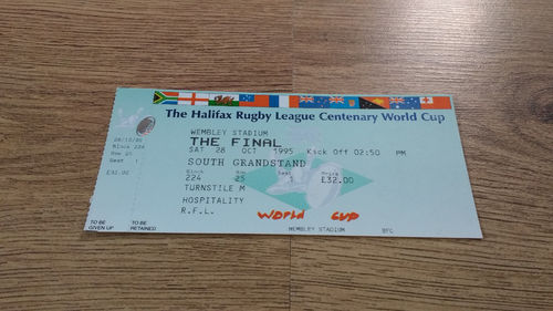 England v Australia 1995 Rugby League World Cup Final Ticket