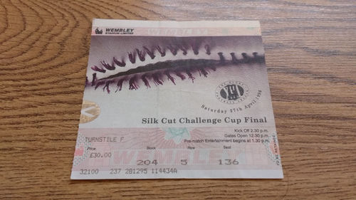 Bradford v St Helens 1996 Challenge Cup Final Rugby League Ticket