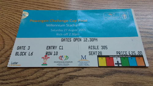 Leeds Rhinos v Hull 2005 Challenge Cup Final Rugby League Ticket