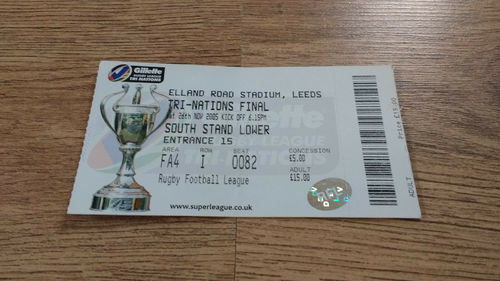 New Zealand v Australia 2005 Tri-Nations Final Rugby League Ticket