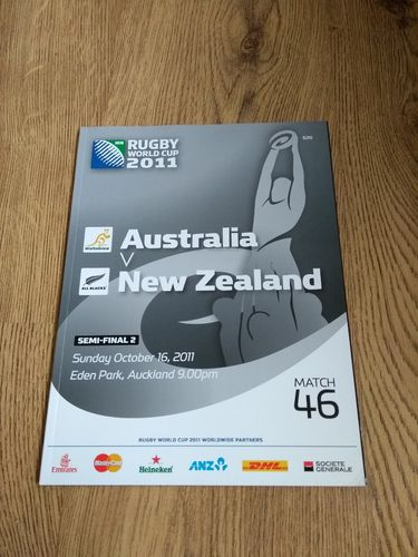 Australia v New Zealand 2011 Rugby World Cup Semi-Final Programme