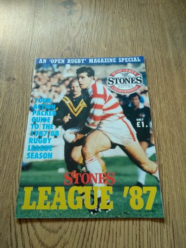'Stones League '87' Open Rugby Special 1987 Magazine