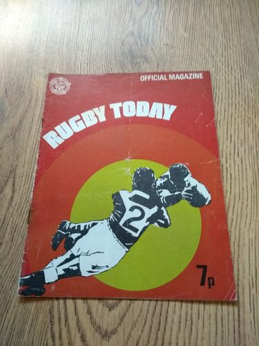 'Rugby Today' 1972 Rugby League Magazine