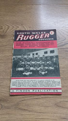 'South Wales Rugger Souvenir' 1949 Rugby Booklet