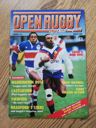 'Open Rugby' No 103 : March 1988 Rugby League Magazine