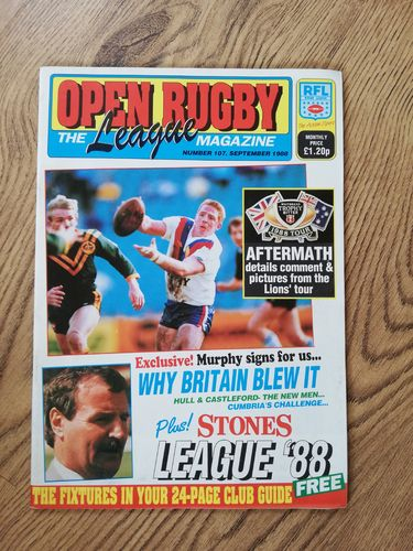 'Open Rugby' : No 107 Sept 1988 Rugby League Magazine