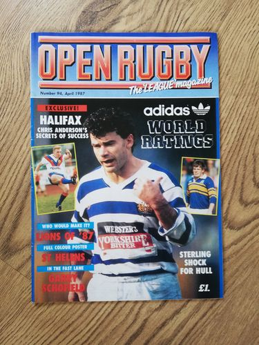 'Open Rugby' No 94 : Apr 1987 Rugby League Magazine