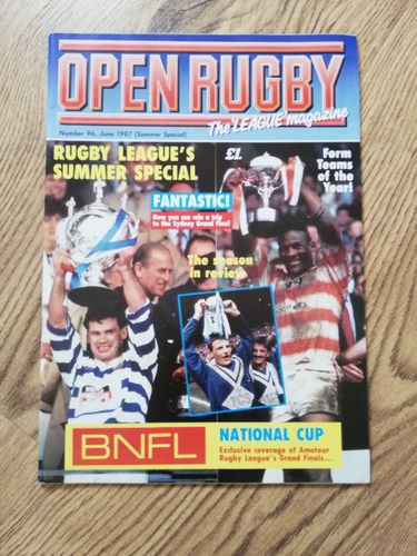 'Open Rugby' No 96 : June 1987 Rugby League Magazine