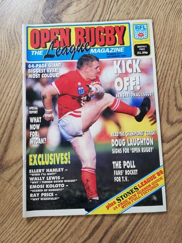 'Open Rugby' No 117 : September 1989 RL Magazine