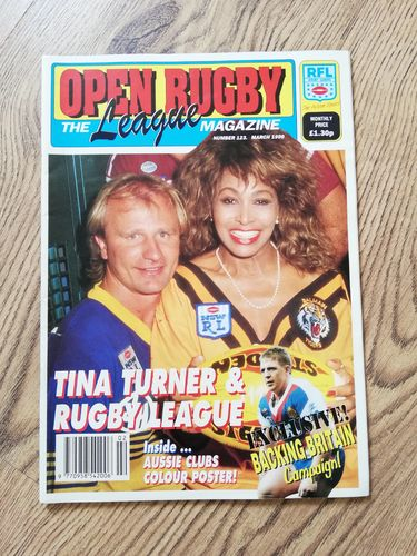 'Open Rugby' No 123 : March 1990 Rugby League Magazine