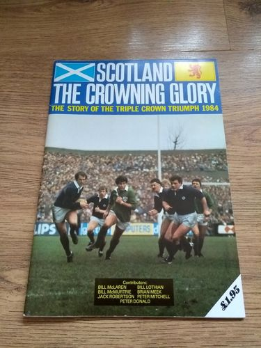 'Scotland The Crowning Glory' 1984 Rugby Triple Crown Brochure