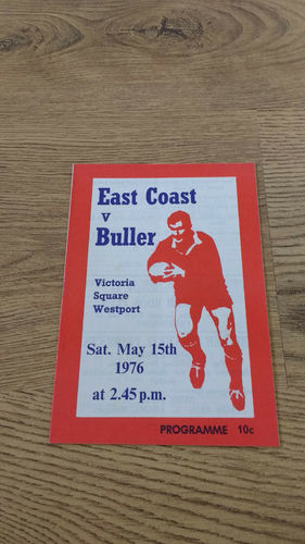 Buller v East Coast May 1976 Rugby Programme