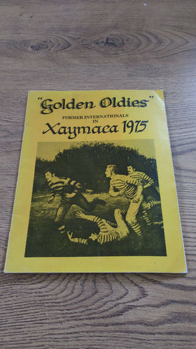 Golden Oldies (former internationals) Tour to Jamaica 1975 Brochure