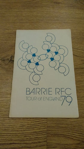 Barrie (Canada) Tour to England 1979 Brochure