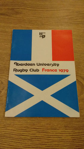 Aberdeen University Tour to France 1979 Brochure