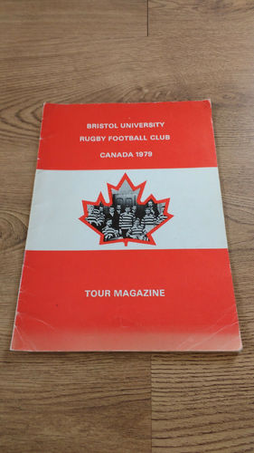 Bristol University Tour to Canada 1979 Brochure