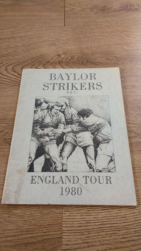 Baylor Strikers (Texas USA) Tour to England 1980 Brochure