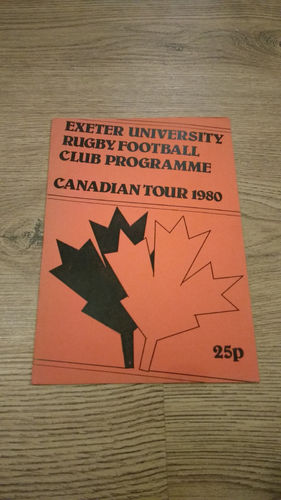 Exeter University Tour to Canada 1980 Brochure
