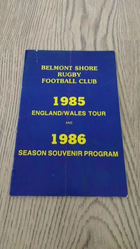 Belmont Shore (USA) Tour to England & Wales 1985 Brochure