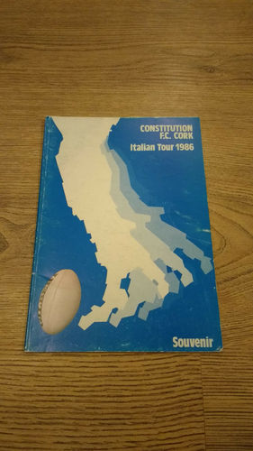 Constitution FC Cork Italian Tour 1986 Brochure
