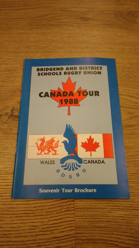 Bridgend & District Schools Tour to Canada 1988 Brochure