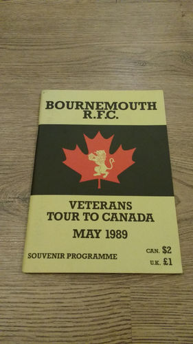 Bournemouth Veterans Tour to Canada 1989 Brochure