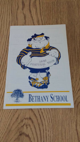 Bethany School Tour to Portugal 1992 Brochure