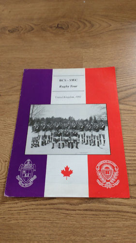 Bishops College School & Stanstead College (Canada) Tour to UK 1992 Brochure