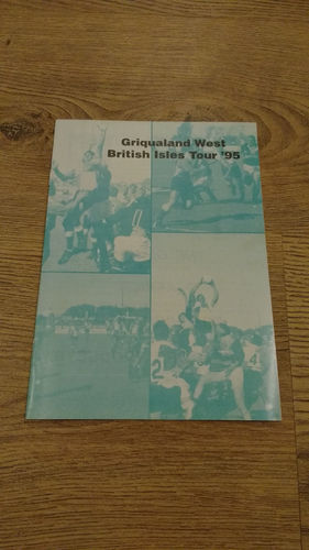 Griqualand West Tour to British Isles 1995 Brochure