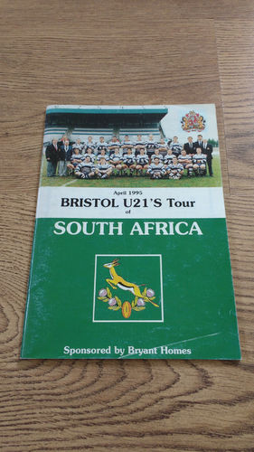 Bristol U21s Tour to South Africa 1995 Brochure