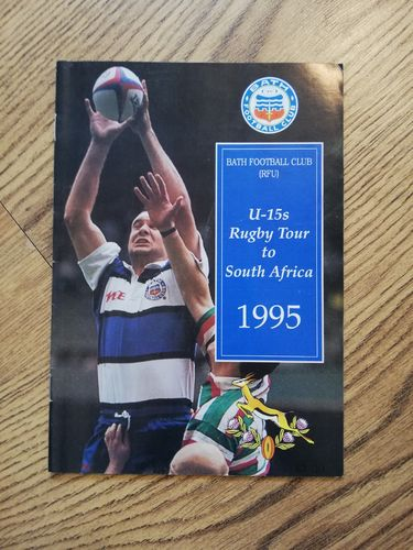 Bath Under15 Rugby Tour to South Africa 1995 Brochure