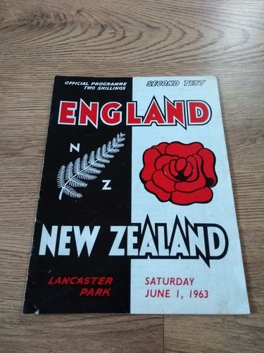 New Zealand v England 2nd Test 1963 Rugby Programme