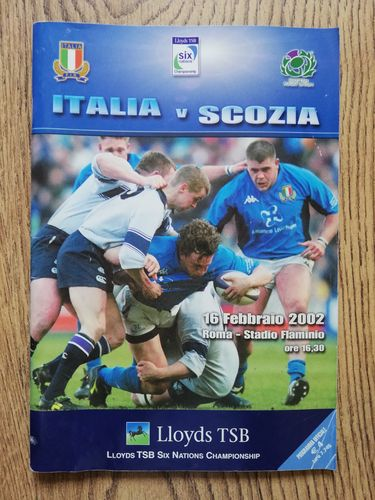 Italy v Scotland 2002 Rugby Programme