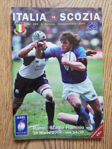 Italy v Scotland 2006 Rugby Programme