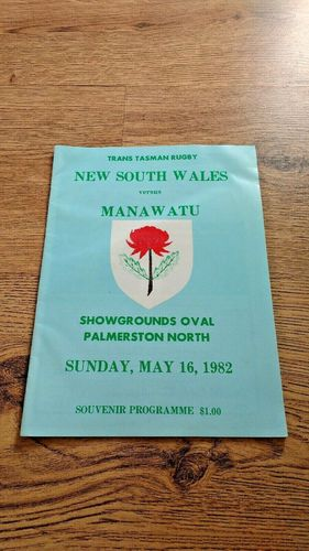 Manawatu v New South Wales 1982 Rugby Programme