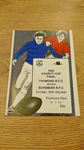 Thomond v Bohemian 1983 Limerick Charity Cup Final Rugby Programme