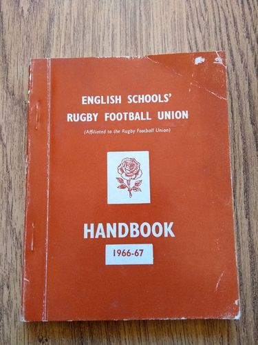 English Schools' Rugby Football Union 1966-67 Handbook