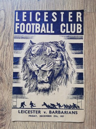 Leicester v Barbarians Dec 1957 Rugby Programme