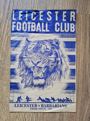 Leicester v Barbarians Dec 1959 Rugby Programme